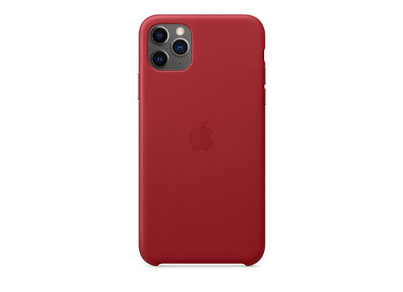 iPhone 11 Pro Max - Apple Leather Case/(PRODUCT)RED