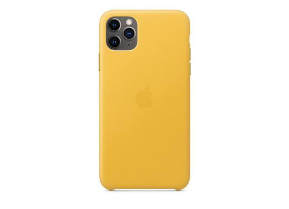 iPhone 11 Pro Max - Apple Leather Case/Meyer Lemon