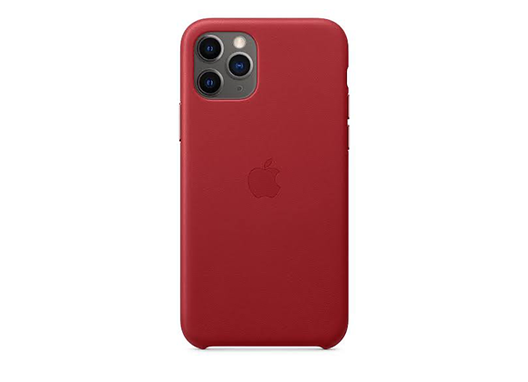 iPhone 11 Pro - Apple Leather Case/(PRODUCT)RED