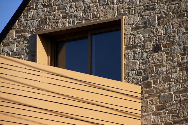 Maison architecte bois noir Rennes