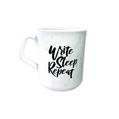 Write, Sleep, Repeat mug