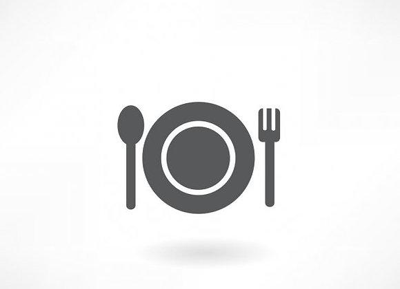 1/2 kreeft (p.p.) met venusschelpjes en Sint-Jacobsvruchten met tagliolini