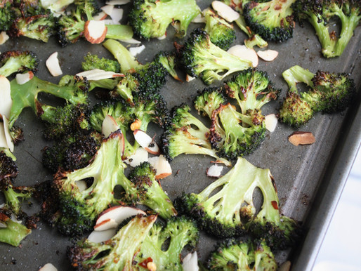 Roasted Broccoli with sliced Almonds - a healthy indulgence!