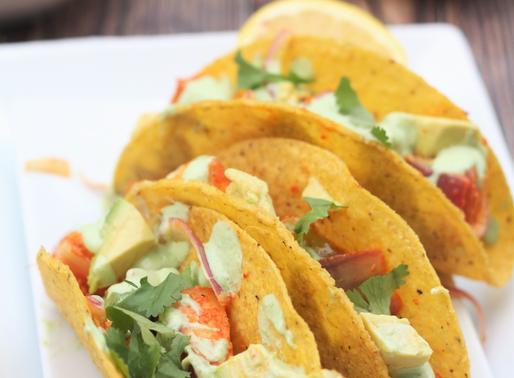 Paneer Tikka Tacos with Cilantro Lime sauce