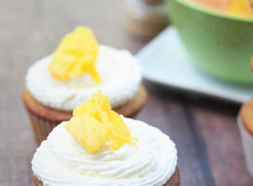 Eggless Mango Cream Cupcake