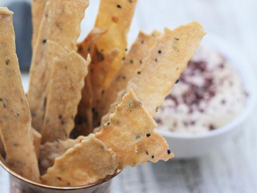 Whole Wheat Lavash Crackers - guilt -free indulgence!