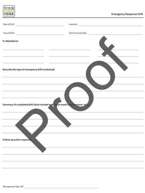 Emergency Response Drill Form