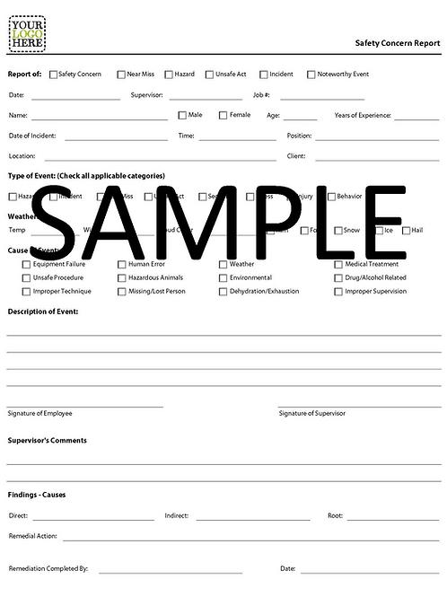 NCR - Safety Concern Report Form