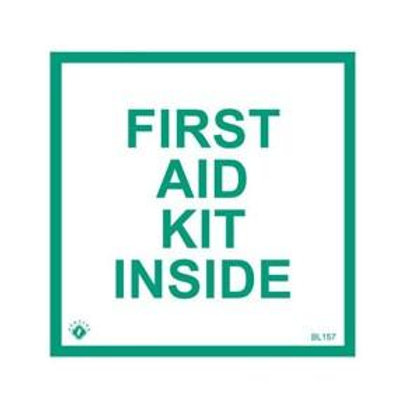 "First Aid Kit Inside Sticker - 4"" x 4"""