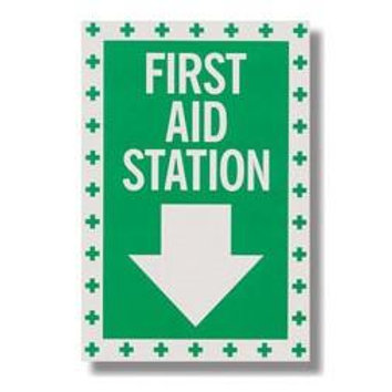 "First Aid Station Sticker - 8"" x 12"""