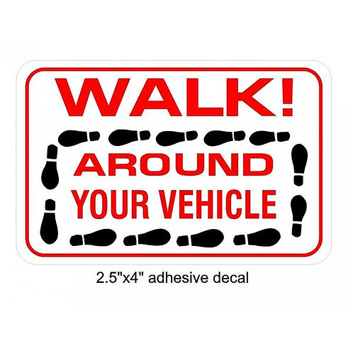 Walk Around Your Vehicle Sticker