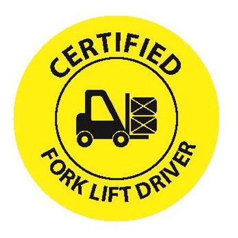 Certified Fork Lift Driver Sticker--2x2 Circle
