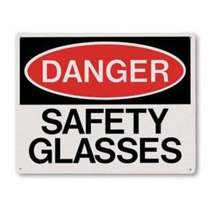 """Danger Safety Glasses Sign - 10"""" x 8"""""""