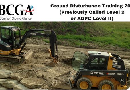 Ground Disturbance Training 201