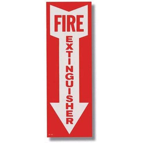 """Fire Extinguisher Arrow Sticker - 4"""" x 12"""""""