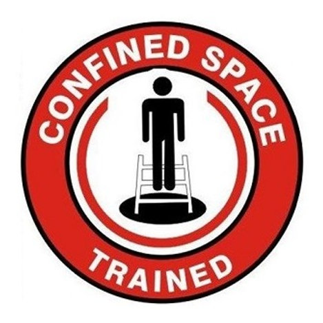 Confined Space Trained Sticker