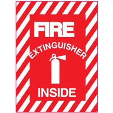"Fire Extinguisher Inside Sticker - 6"" x 9"""
