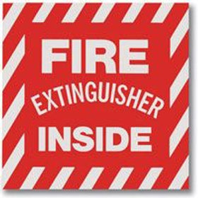 "Fire Extinguisher Inside Sticker- 2"" x 4"""