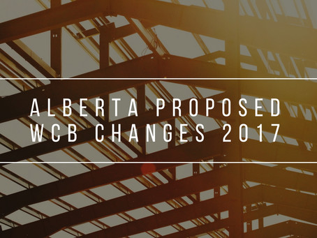 Alberta Proposed WCB Changes 2017