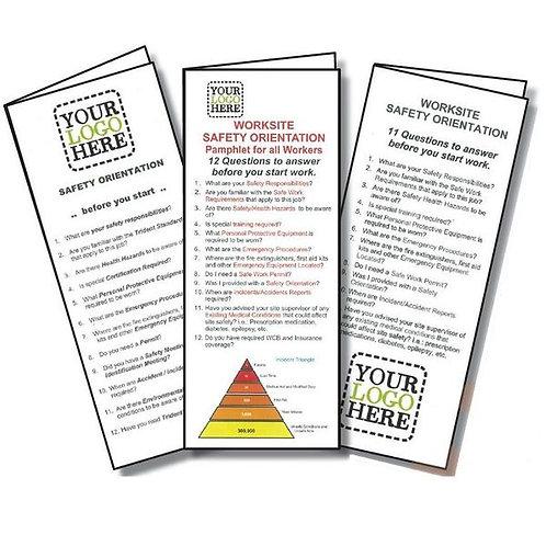 Site Safety Orientation Pamphlet