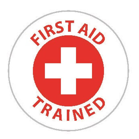 First Aid Trained Sticker