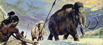 ice age man with mammoth