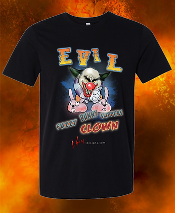 Fuzzy Bunny Slippers Clown T-Shirt