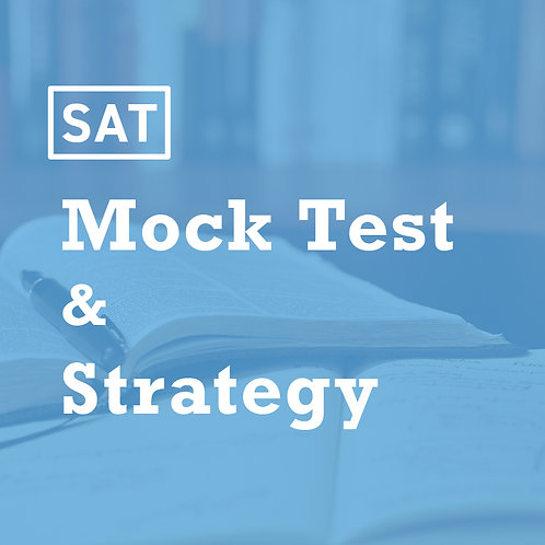 Spring - SAT Mock Test Strategy and Review (Single Test Date)