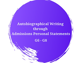 Autobiographical Writing  through  Admis