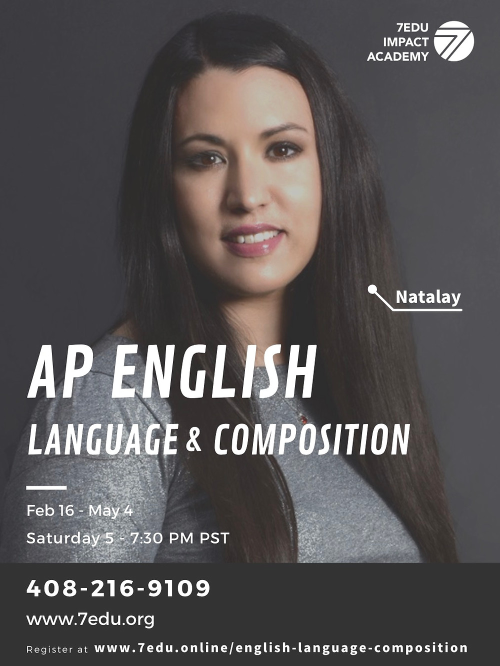 "<img src=""natalay.jpg"" alt=""natalay goldstein teacher of 7edu information about upcoming ap english language and composition course"">"