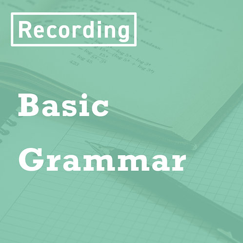 Basic Grammar Recordings