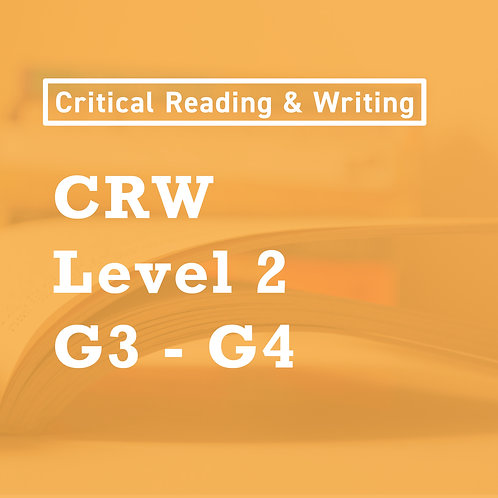 Mar. - [Level 2] Critical Reading and Writing Skills (G3-4)