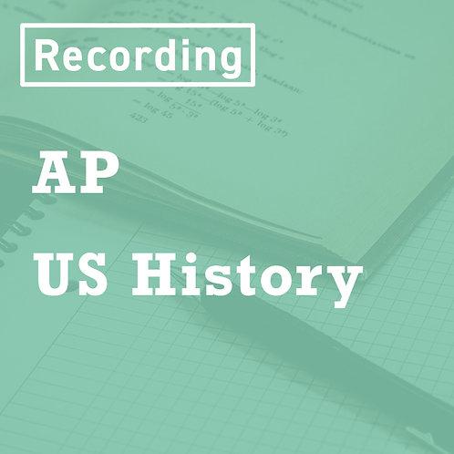 AP US History Recordings