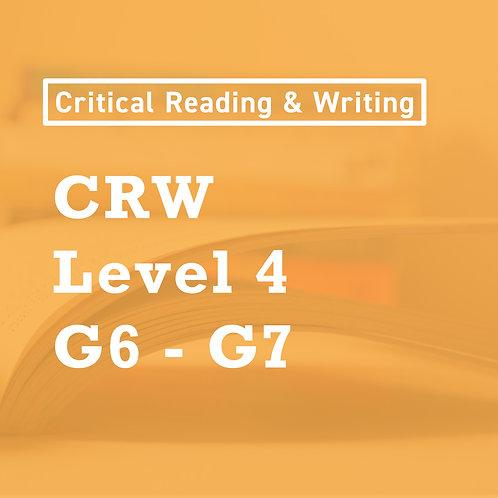 Jan. (Stage 2 - 4) - [Level 4] CRW Skills Lower Middle School (G6-7)