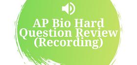 Bio Hard Question Review Recording