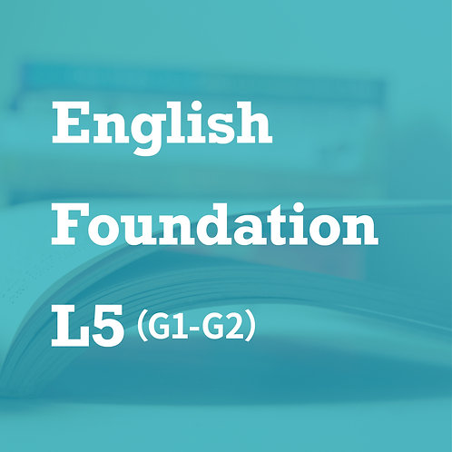 [L5] English Foundation Developing Readers (G1- G2)