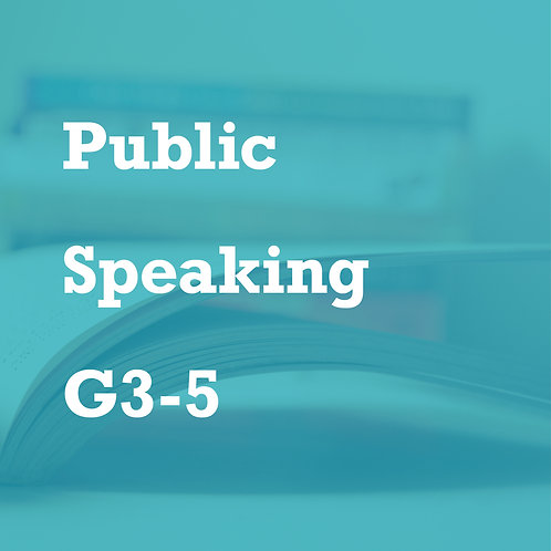 Jan. - Public Speaking (G3-5)