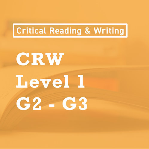 Jan. (Stage 2 - 4) - [Level 1] Critical Reading and Writing Skills (G2-3)