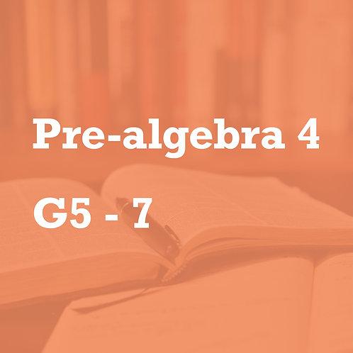 Pre-Algebra 4