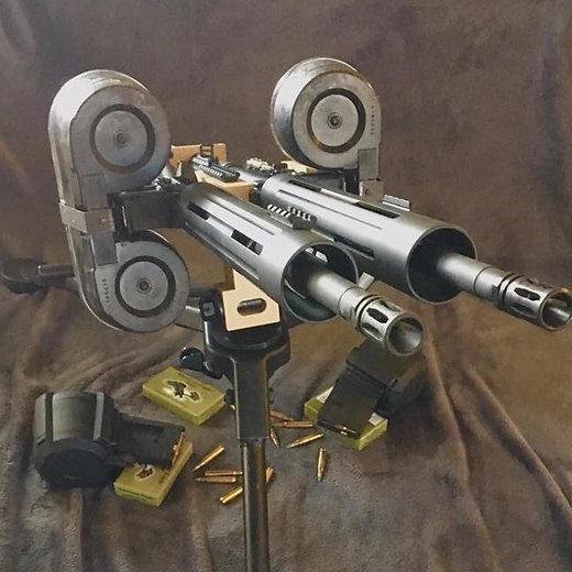 Cedar Parks Gunworks Gatlin gun double AR15!!!