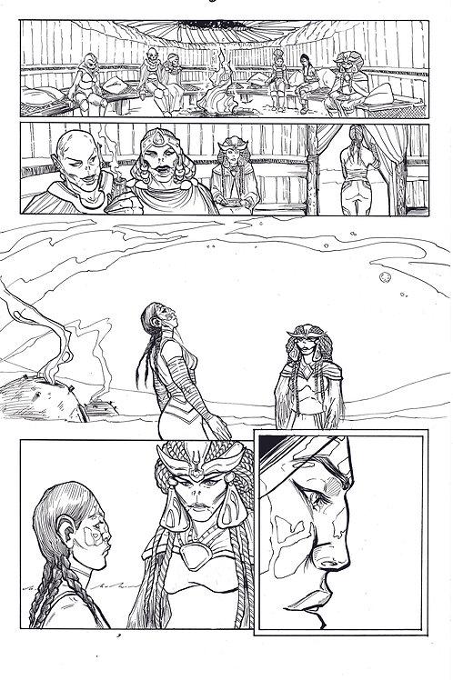 Marvel ECHO page 6 Original Inks