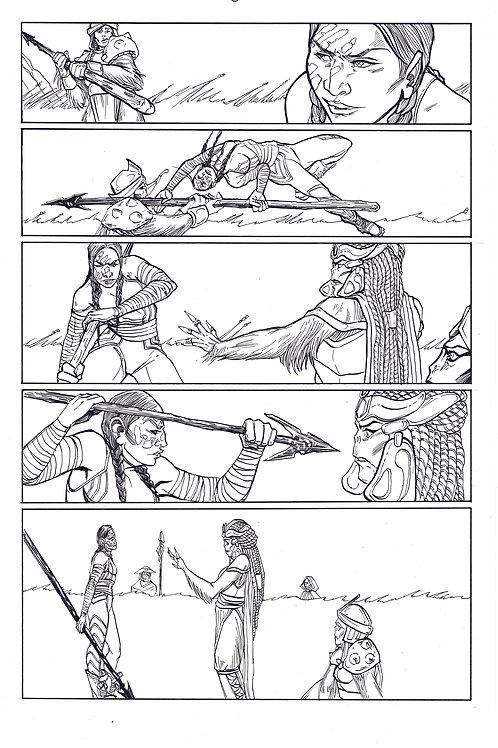 Marvel ECHO page 5 Original Inks
