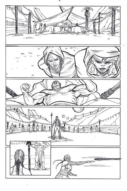 Marvel ECHO page 8 Original Inks