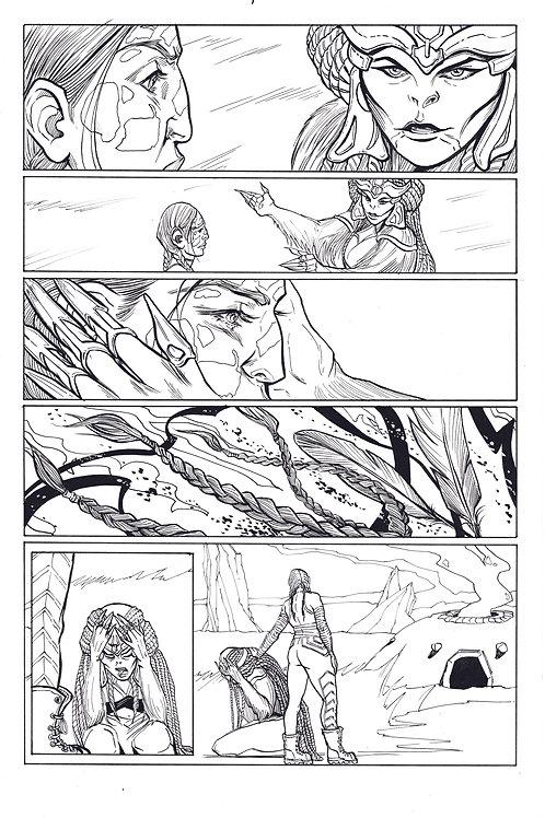 Marvel ECHO page 7 Original Inks