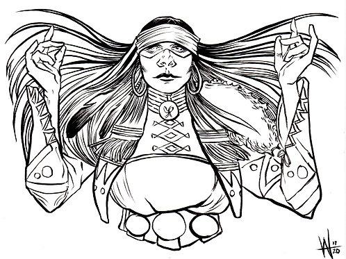 Marvel LIVE Draw Original Kushala Art