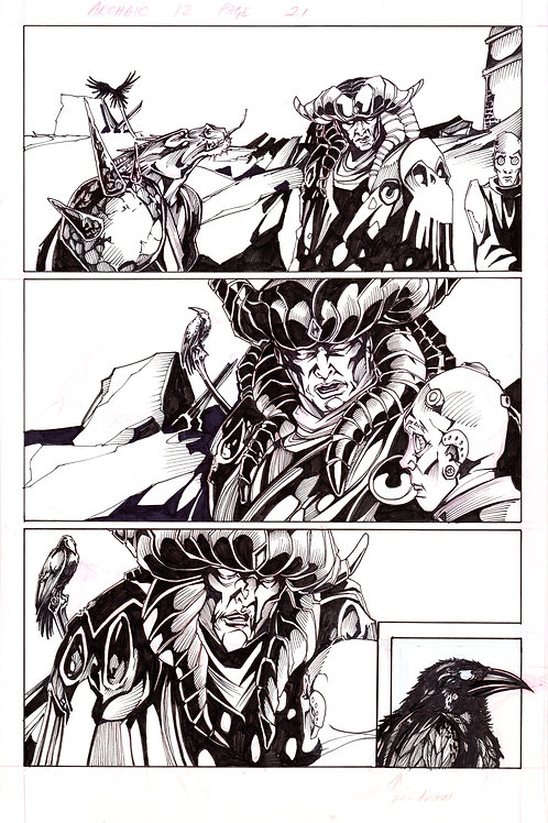 ARCHAIC Issue 12 page 21 Original Art
