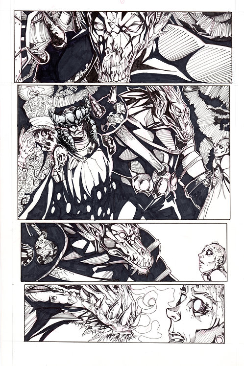 ARCHAIC Issue 12 page 6 Original Art