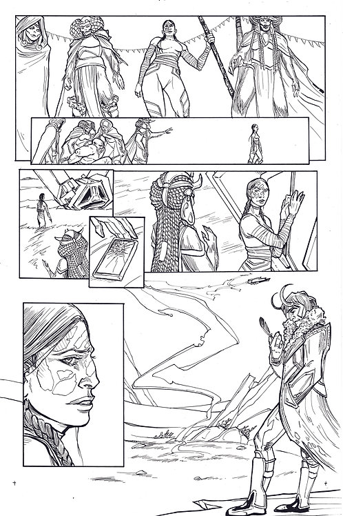 Marvel ECHO page 10 Original Inks