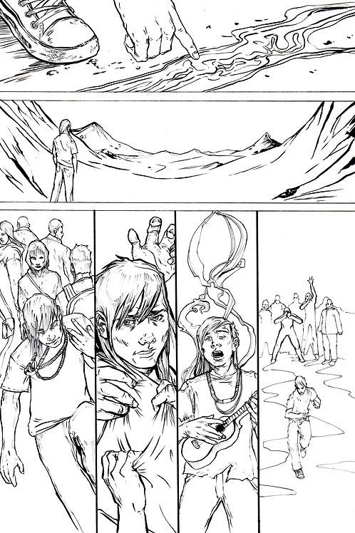 Moonshot Volume 2 page 2 Original art