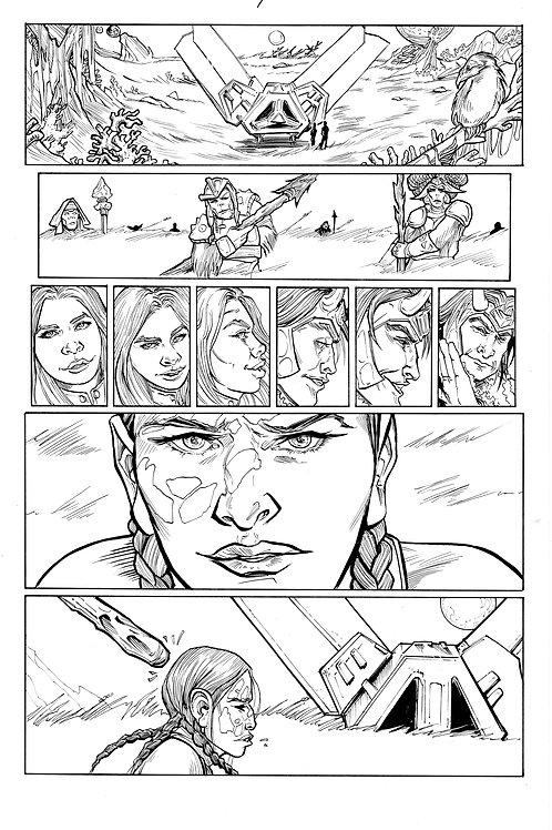 Marvel ECHO page 4 Original Inks